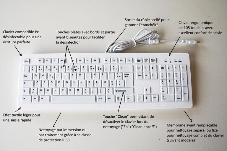 clavier médical Active Key description